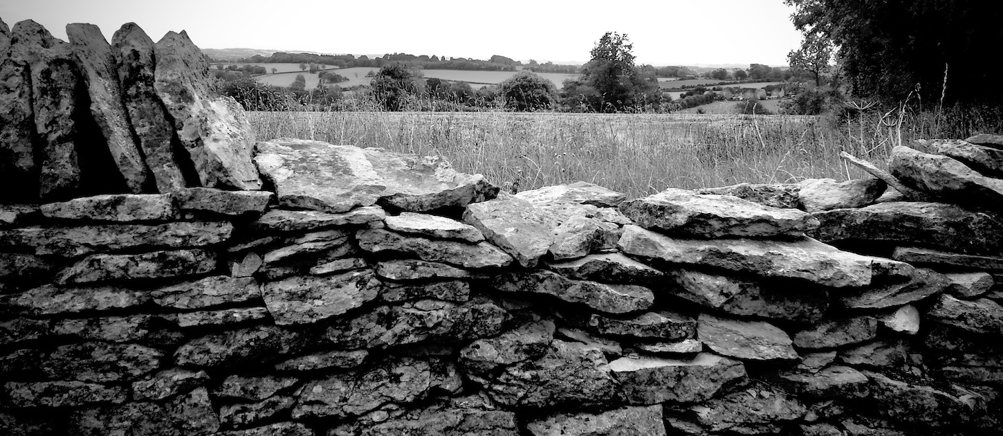 A typical Cotswold field wall