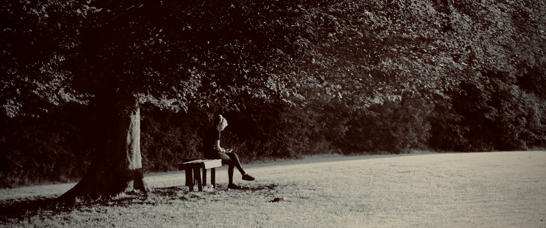 Reader on the Village Green Freshford UK