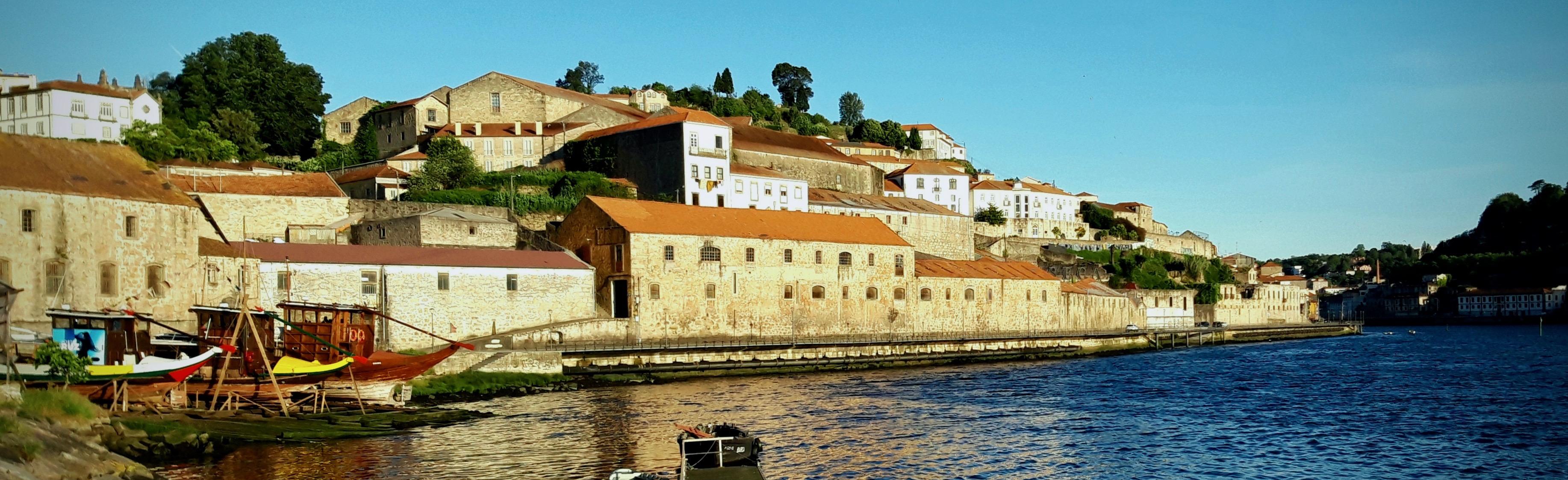 The old wine stogare building in Vila Nova de Gaia, Portugal