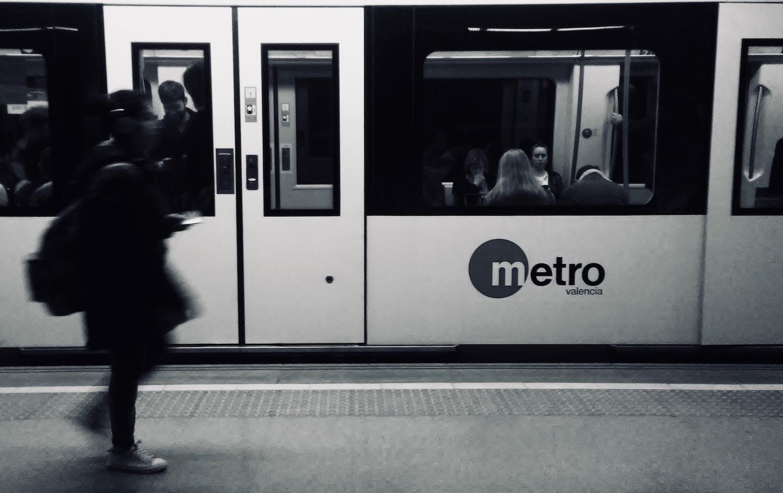 Students Heading to Class on the Valencia Metro